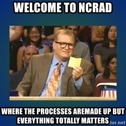 drew carey - WELCOME TO NCRAD  WHERE THE PROCESSES AREMADE UP BUT EVERYTHING TOTALLY MATTERS