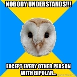 Bipolar Owl - Nobody understands!!! Except every other person with bipolar...