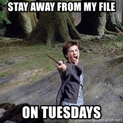 Pissed off Harry - STay Away from My file on Tuesdays