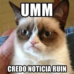 Grumpy Cat  - umm credo noticia ruin