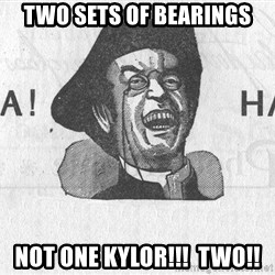 Ha Ha Guy - TWO SETS OF BEARINGS NOT ONE KYLOR!!!  TWO!!