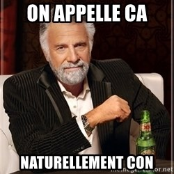 The Most Interesting Man In The World - On appelle ca Naturellement con