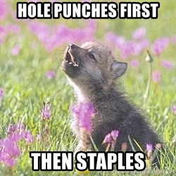 Baby Insanity Wolf - Hole punches first then staples
