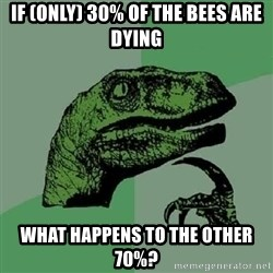 Philosoraptor - If (ONLY) 30% of the bees are dying what happens to the other 70%?