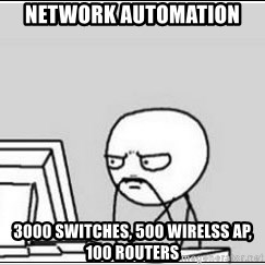 computer guy - Network automation 3000 switches, 500 Wirelss AP, 100 Routers