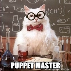 Science Cat -  Puppet Master