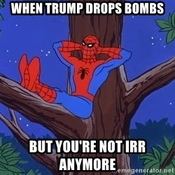 Spiderman Tree - When trump drops bombs but you're not irr anymore