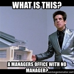 Zoolander for Ants - what is this? A managers office with no manager?