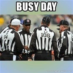 NFL Ref Meeting - busy day