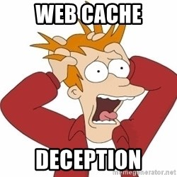 Fry Panic - web cache deception
