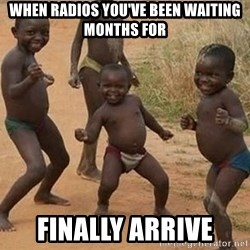 Dancing african boy - when radios you've been waiting months for Finally arrive