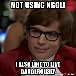 Austin Power - Not using ngCLI I Also like to live dangerously