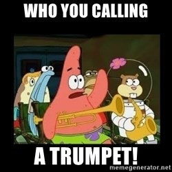 Patrick Star Instrument - Who you calling a trumpet!