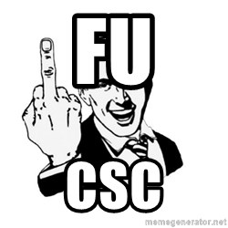 middle finger - FU CSC