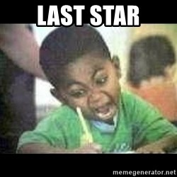Black kid coloring - Last star