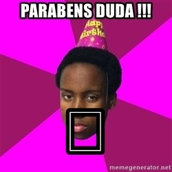 Happy Birthday Black Kid - Parabens DuDa !!! 🤑