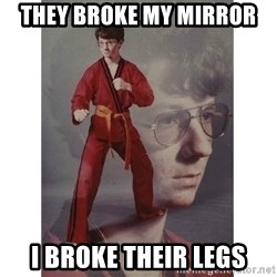 Karate Kid - They broke my mirror i broke their legs