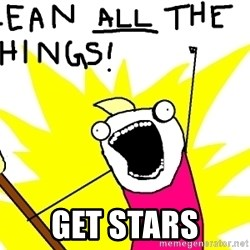 clean all the things -  get stars