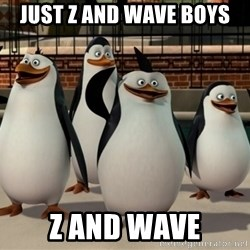 Madagascar Penguin - Just Z and wave boys Z and wave