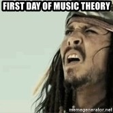 Jack Sparrow Reaction - First day of music theory
