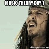 Jack Sparrow Reaction - Music theory day 1