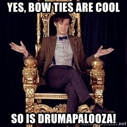 Hipster Doctor Who - yes, bow ties are cool so is drumapalooza!