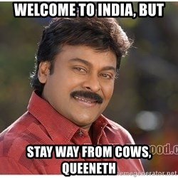 Typical Indian guy - Welcome to india, but Stay Way from cows, queeneth