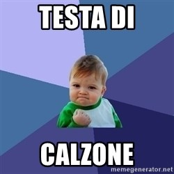 Success Kid - TESTA DI CALZONE
