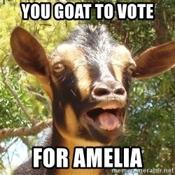 Illogical Goat - you goat to vote  for amelia