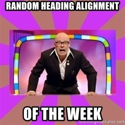 Harry Hill Fight - Random heading alignment of the week