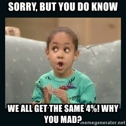 Raven Symone - sorry, but you do know we all get the same 4%! why you mad?