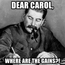 Dear Diary - Dear Carol, Where are the gains?!