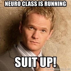 BARNEYxSTINSON - Neuro Class is running Suit up!