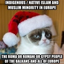 Grumpy Cat Santa Hat - Indigenous / Native Islam and Muslim Minority in Europe The Roma or Romani or Gypsy People of the Balkans and all of Europe