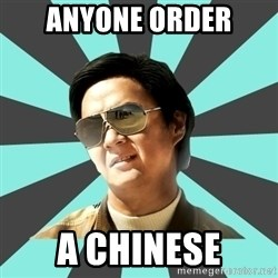 mr chow - Anyone order A chinese