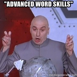 "Dr. Evil Air Quotes - ""Advanced Word Skills"""