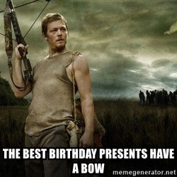 Daryl Dixon -  the best birthday presents have a bow