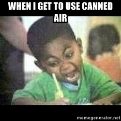 Black kid coloring - When I get to use canned air