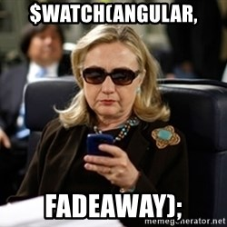 Hillary Clinton Texting - $WATCH(ANGULAR, FADEAWAY);