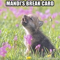 Baby Insanity Wolf - MANDI'S BREAK CARD