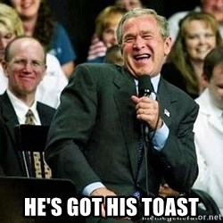 Laughing Bush -  He's got his toast