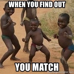 Dancing African Kid - when you find out you match