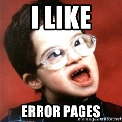 Are You A Wizard - I LIKE error pages