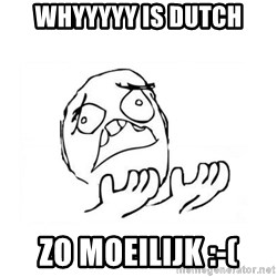 WHY SUFFERING GUY 2 - WhyYYYY IS DUTCH ZO moeilijk :-(
