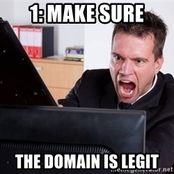 Angry Computer User - 1: Make sure the domain is legit