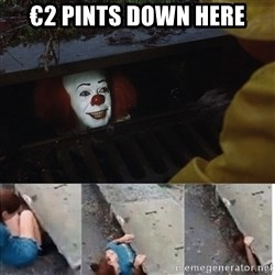 Pennywise in sewer - €2 pints down here
