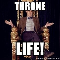 Hipster Doctor Who - throne life!