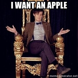 Hipster Doctor Who - i want an apple
