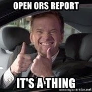 Barney Stinson - open ors report it's a thing