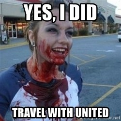 Scary Nympho - Yes, I did Travel with United